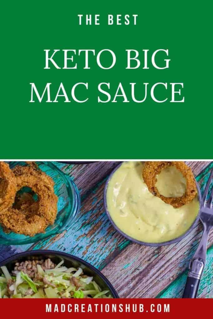 The BEST Keto Big Mac Sauce PInterest Banner