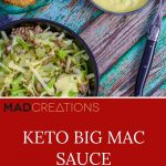The BEST Keto Big Mac Sauce PInterest Banner