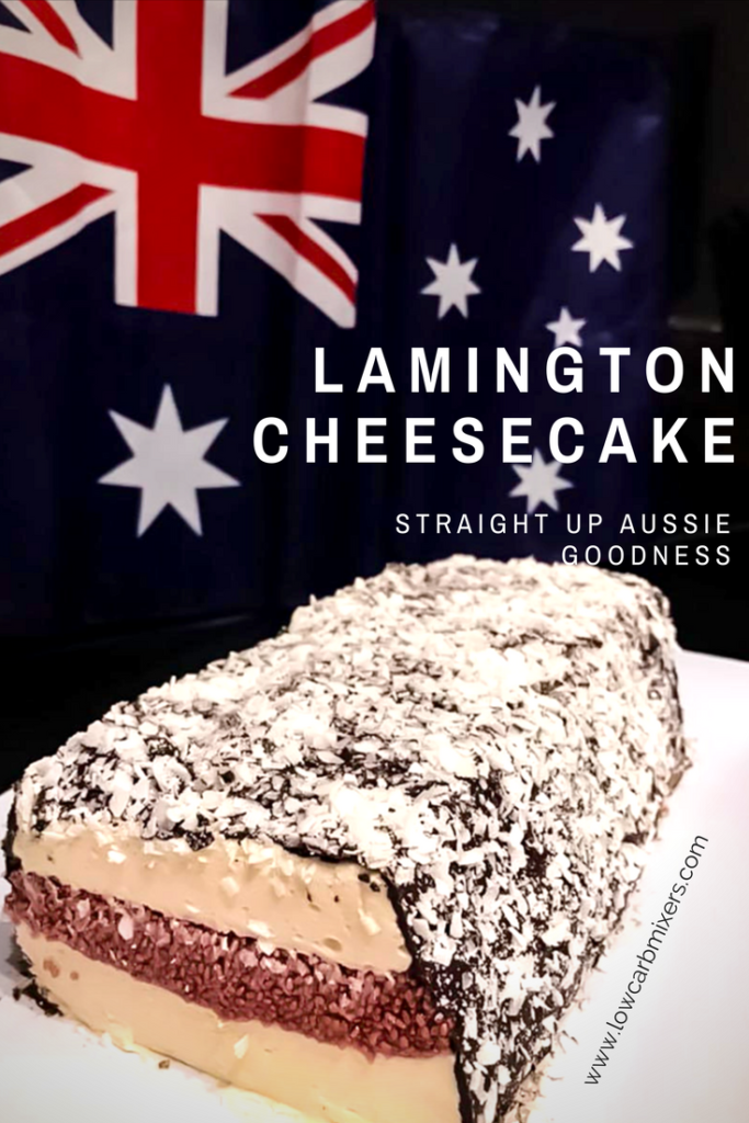 Mad Creations Lamington Cheesecake for the ketogenic diet/sugar free