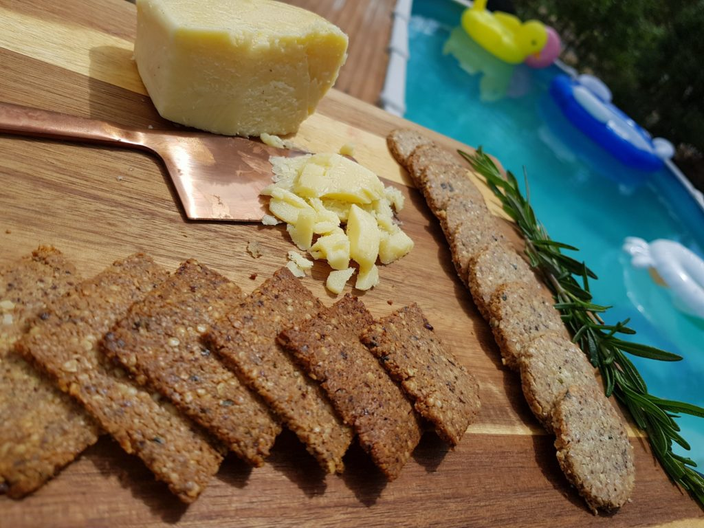 Mad Creations Keto Rosemary & Olive Oil Hemp Seed Crackers
