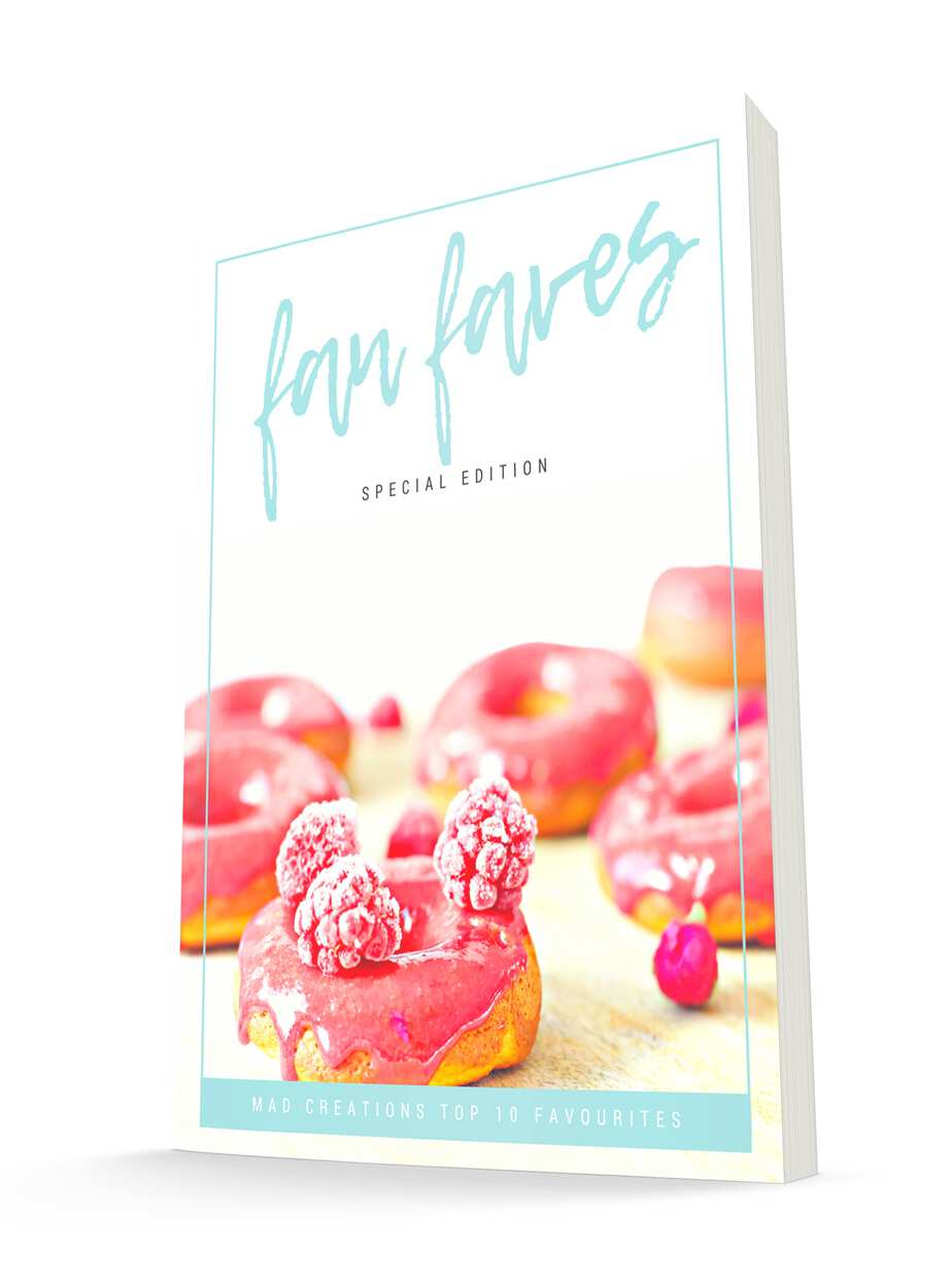 Top 10 Keto Recipes ebook Fan Faves jacket cover with donuts