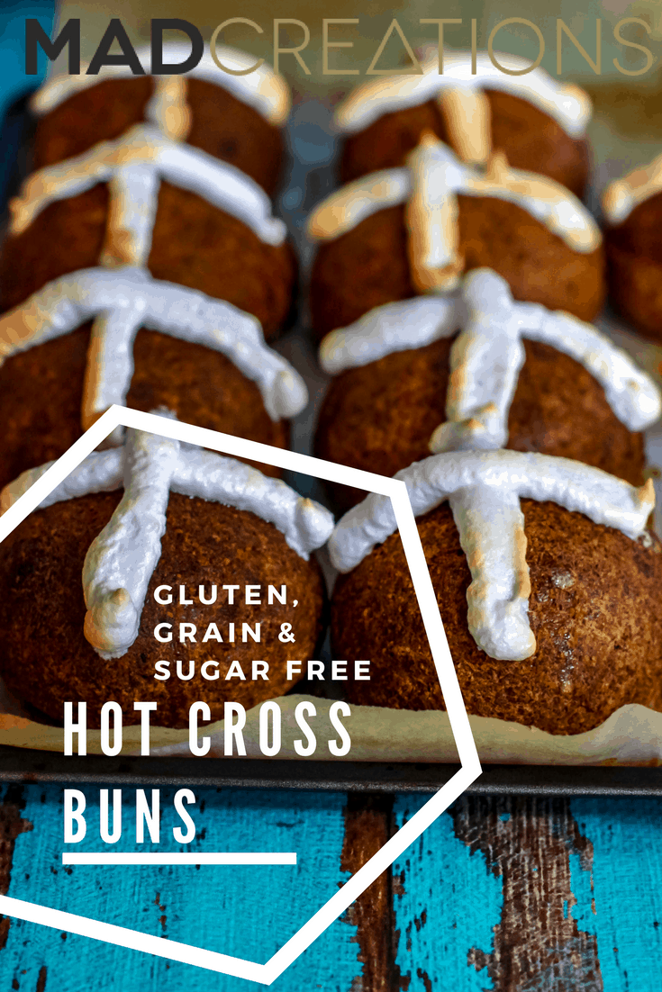 Mad Creations Hot Cross Buns - Gluten free, grain free, sugar free