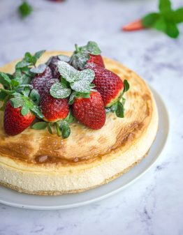 The BEST New York Keto Cheesecake recipe you will ever try. Only 4g net carbs and super creamy and delicious! #ketorecipes #lowcarbrecipes #sugarfreerecipes #sugarfreedesserts #ketocheesecake
