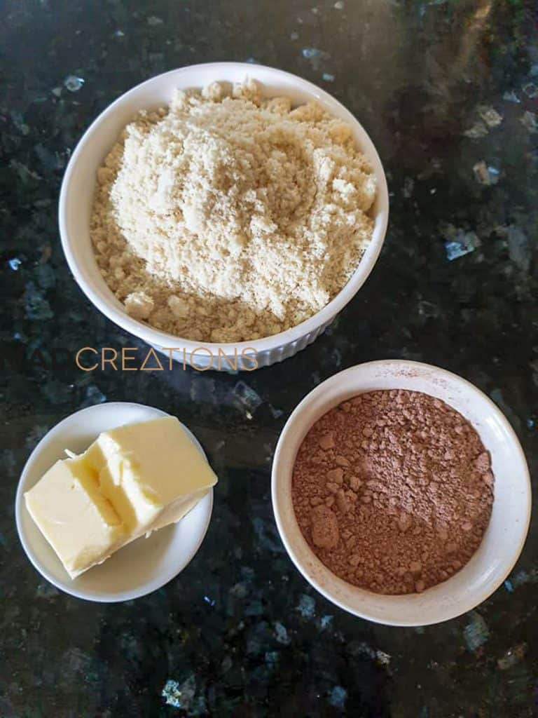 cheesecake base ingredients on a marble countertop
