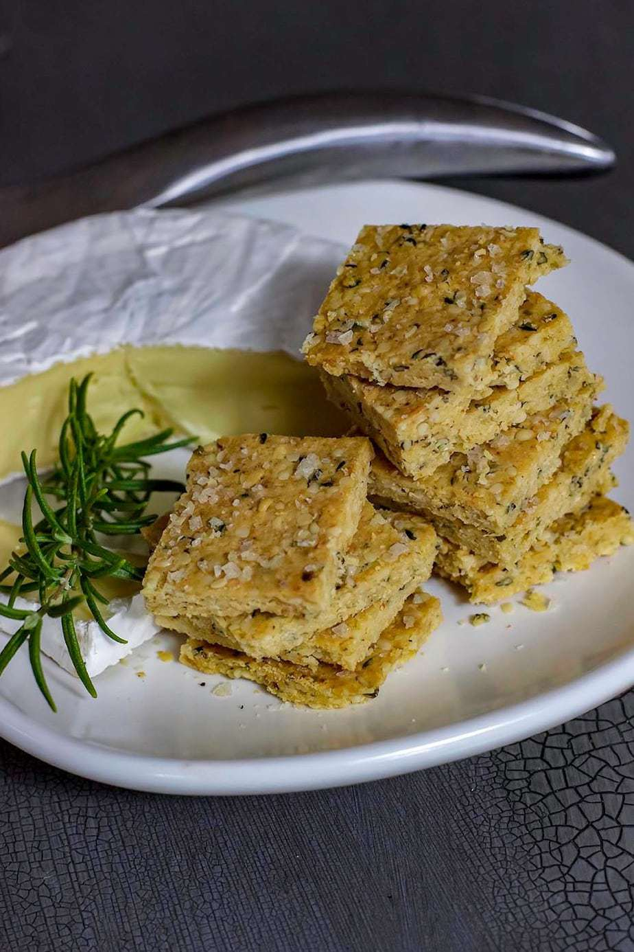 Mad Creations Keto Rosemary Olive Oil Hemp Seed Crackers