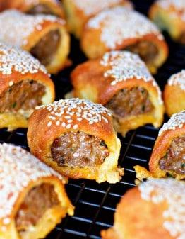 Mad Creations Lamb Kofta Fathead Keto Sausage rolls