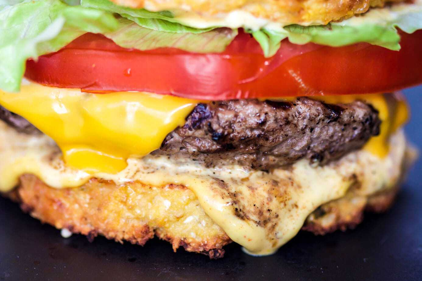 Mad Creations Keto Cauli Clubhouse Burger #ketogenicdiet #glutenfree #grainfree #sugarfree_#madcreations