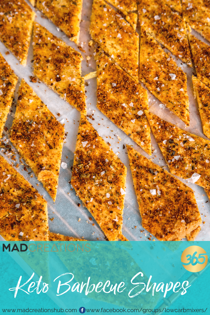 Mad Creations Keto Barbecue Shapes Crackers on baking paper