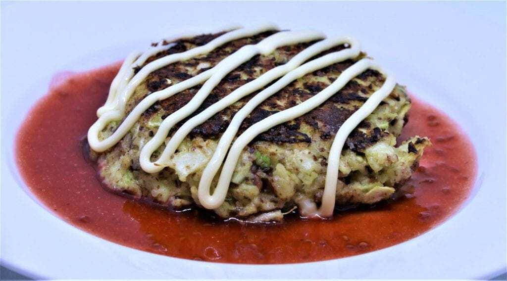 Mad Creations Okonomiyaki with Keto Okonomi Sauce #ketodiet #Japaneseketo