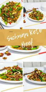Mad Creations Sichuan Beef Keto dinner with the MOST delectable sauce #glutefree #ketomeals #Chineseketo