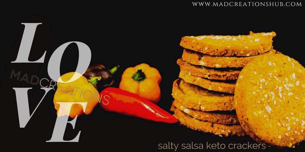 Mad Creations Salty Salsa Keto Crackers