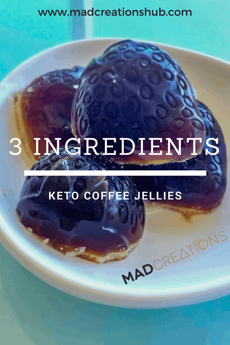 Mad Creations 3 Ingredient Keto Coffee Jellies #ketodiet #ketosnacks #ketogenicdiet