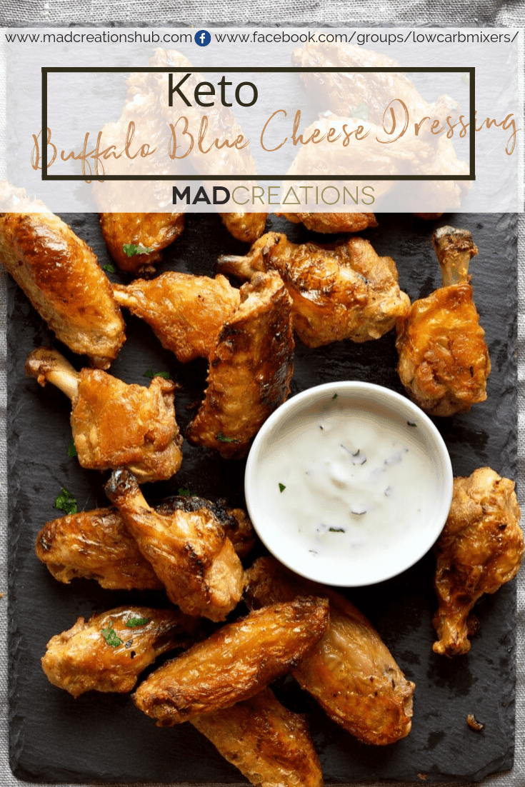 Mad Creations Addictive Keto Buffalo Blue Cheese Sauce Pinterest banner