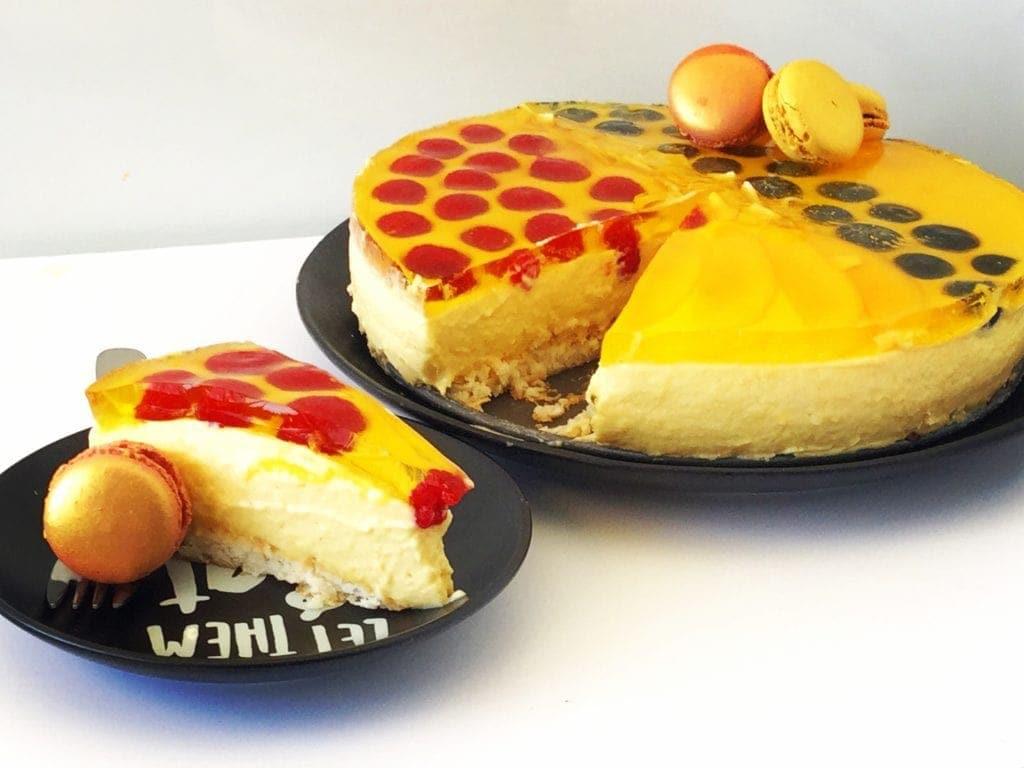 Mad Creations Creamy Mango Macaroon Cheesecake