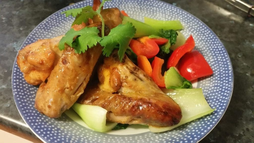 Sticky Vietnamese Keto Chicken Wings #ketowings #ketosnacks #ketodiet