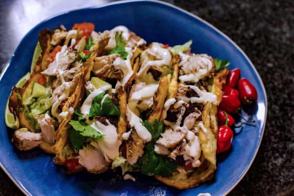 Mad Creations Keto Fish Tacos o n Mad Creations Keto Soft Taco shells