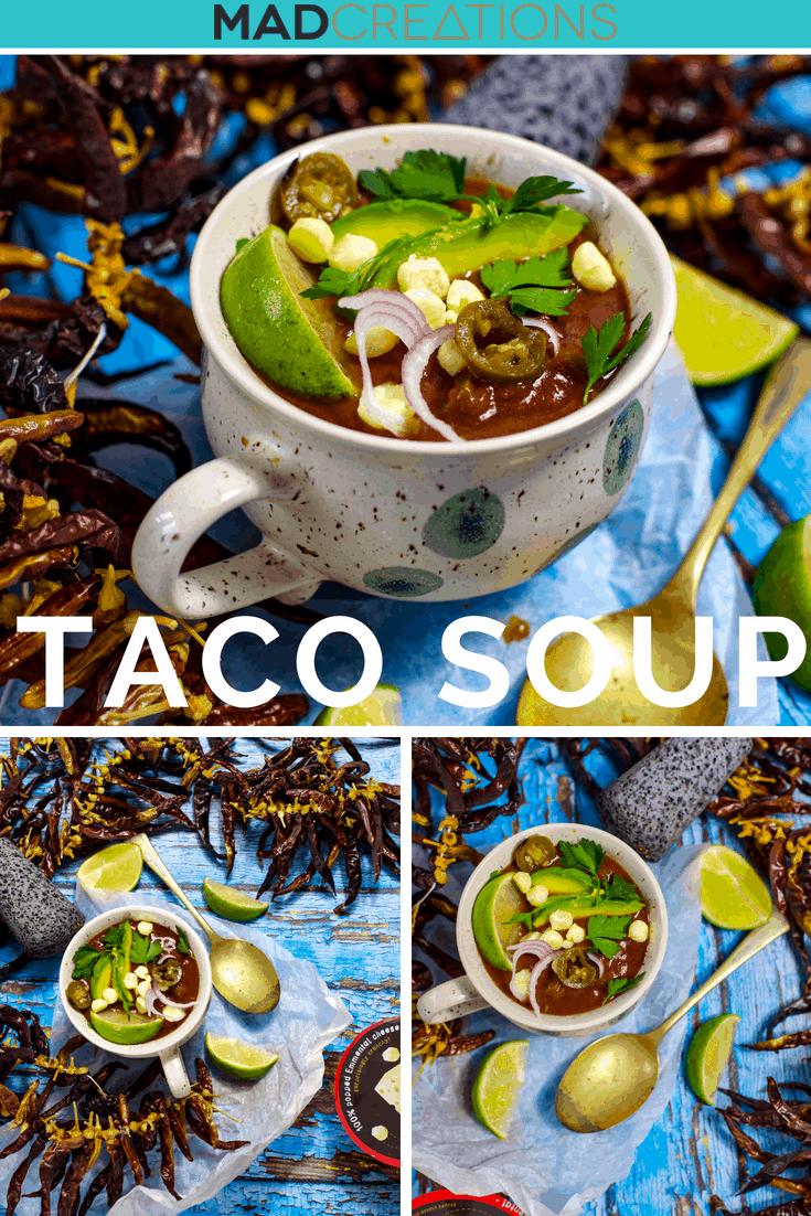 Chicken Taco Keto Soup