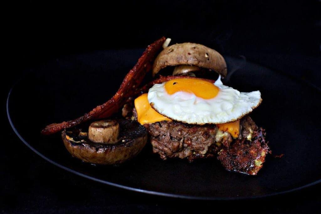 Portabello Cheeseburger recipe #keto #lowcarb