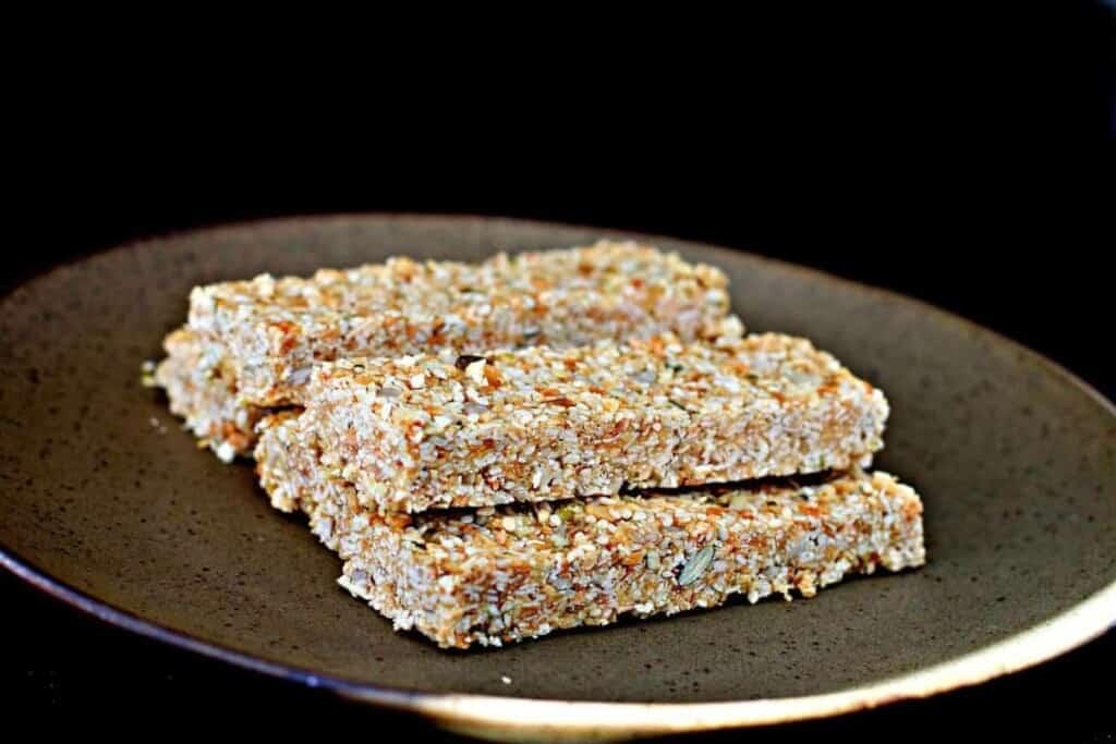 Real Food Real Fast Salted Caramel No-Grainola Bars