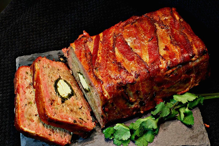 Mad Creations Bacon Wrapped Keto Meatloaf #grainfree #Thermomix #ketogenicdiet #lowcarb #glutenfree #GF #SF _