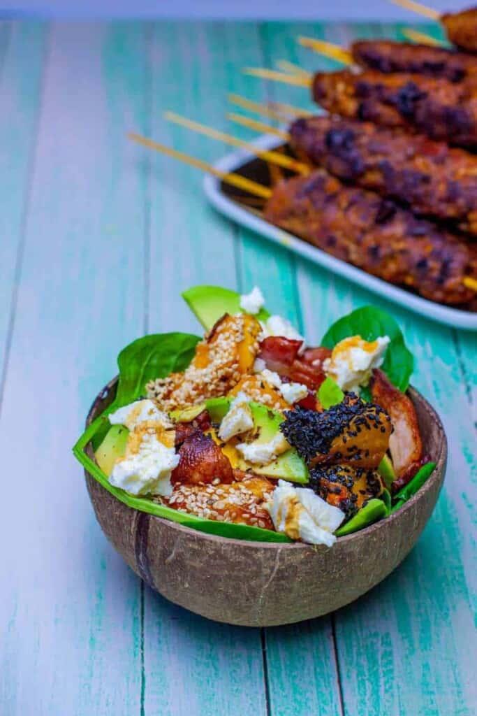 Pumpkin & Persian Feta Salad #ketosalad