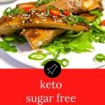 The BEST Keto Sugar Free Pork Ribs Pinterest Banner