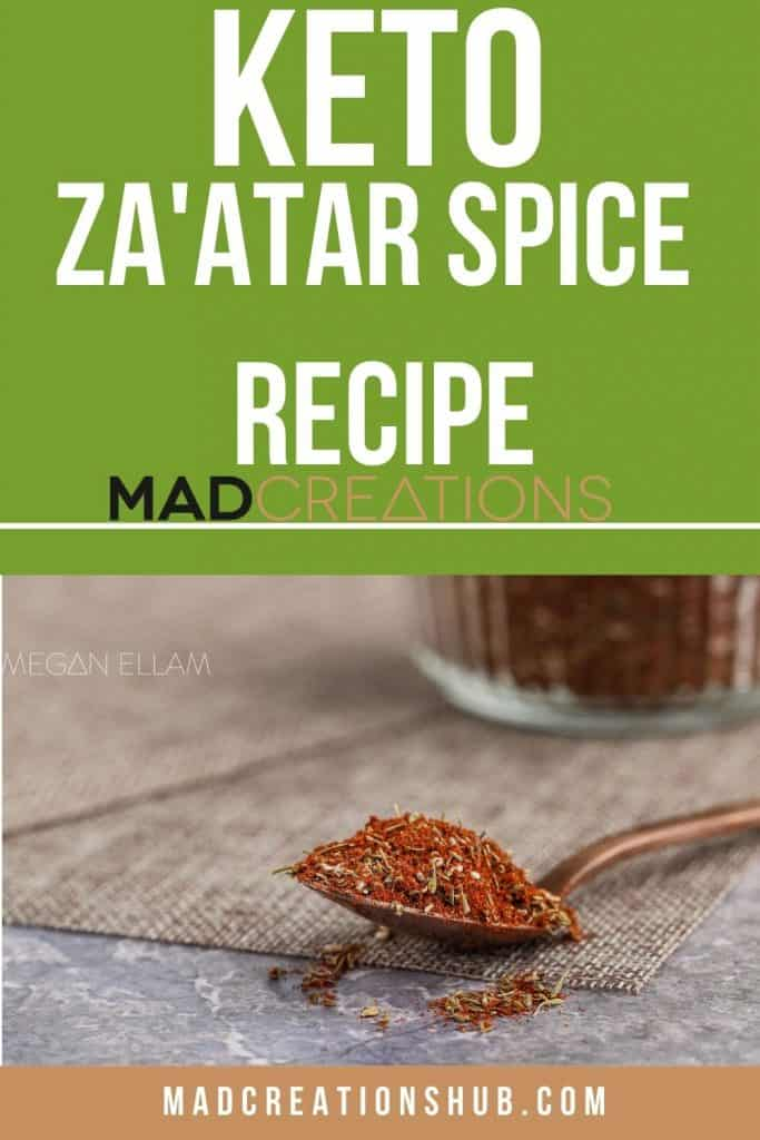 A spoon with spices on it.