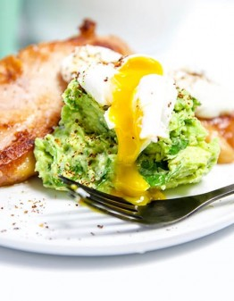 Mad Creations Keto Breakfast Bacon Chops with Guacamole & Poached Eggs so delicious #ketobreakfast #glutenfree #bacon