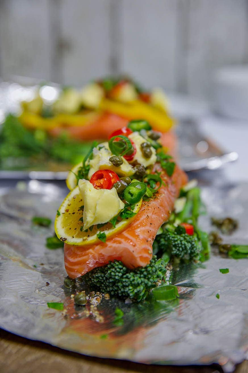 Mad Creations Salmon and Vegetables in Foil #ketodiet #ketomeals