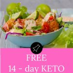 Free 14 Day Keto Meal Plan Pinterest Banner