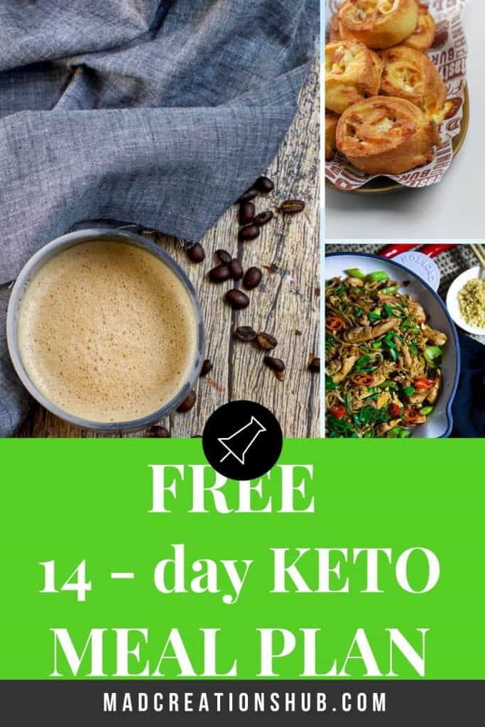 Free 14 Day Keto Meal Plan Pinterest Banner