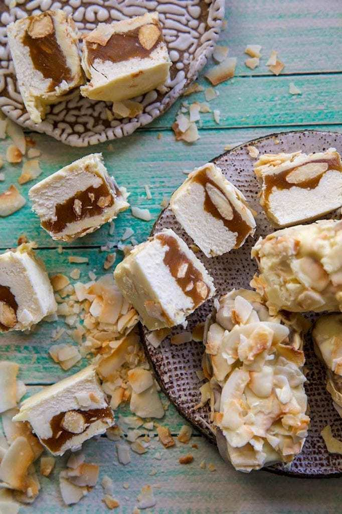 Mad Creations White Choc Caramel Nut Keto Protein Snickers Bar recipe