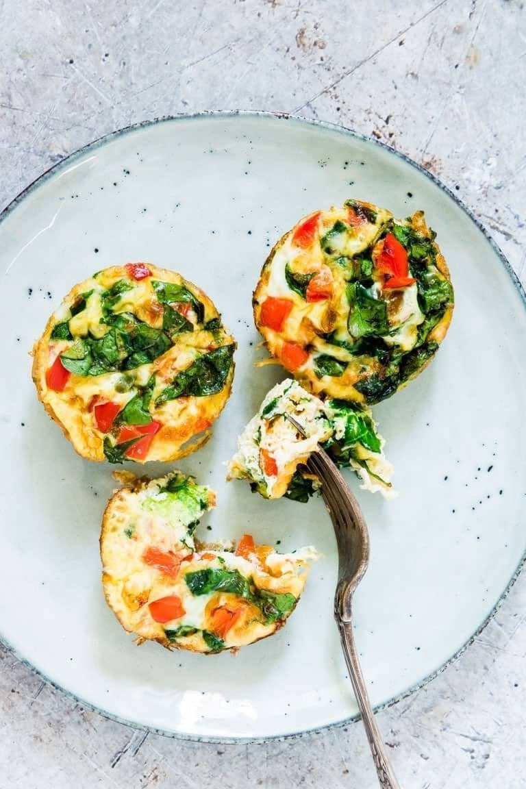 3 mini quiches on a plate