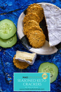 Mad Creations Seasoned Keto Crackers #glutenfree #grainfree #ketocrackers