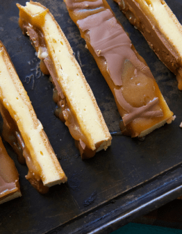 Mad Creations Keto Vanilla Custard Slice cut into bars