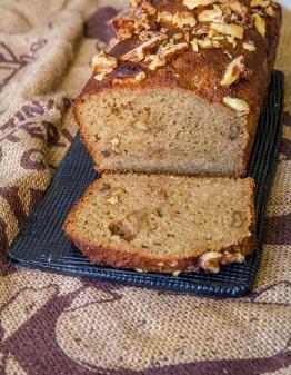 Loaf of keto banana bread