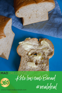 low carb bread slice with butter