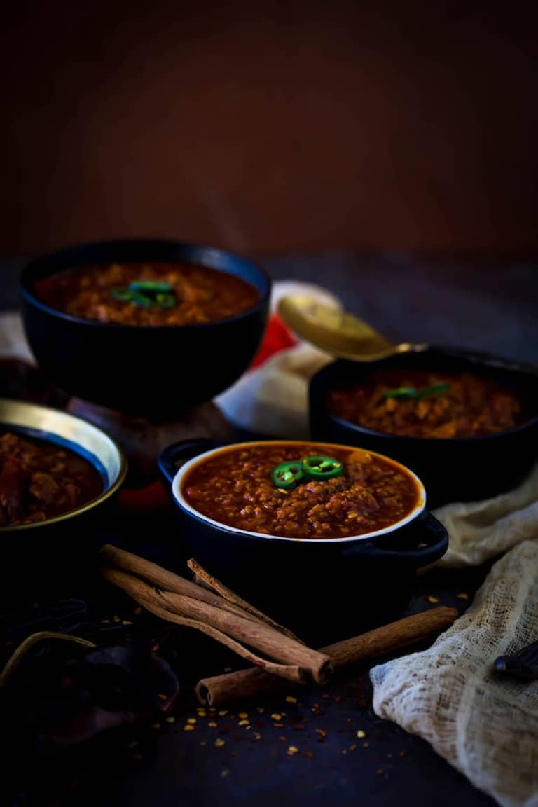 Mad Creations Keto Chilli Con Carne in a bowl