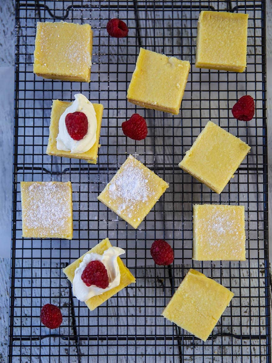 Mad Creations Keto Lemon Bars_on baking tray