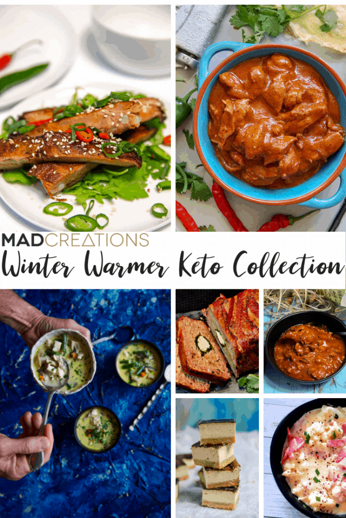 Winter recipe collection of foods and banner