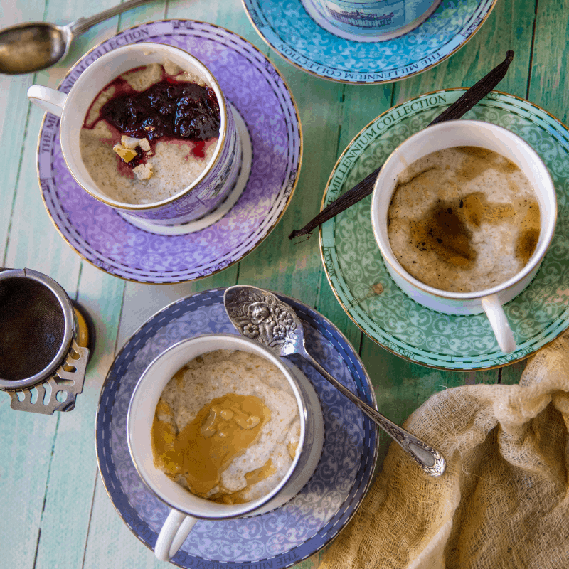 porridge recipe in tea cups