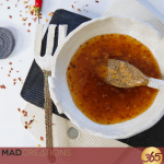 keto sweet chilli sauce in a white bowl