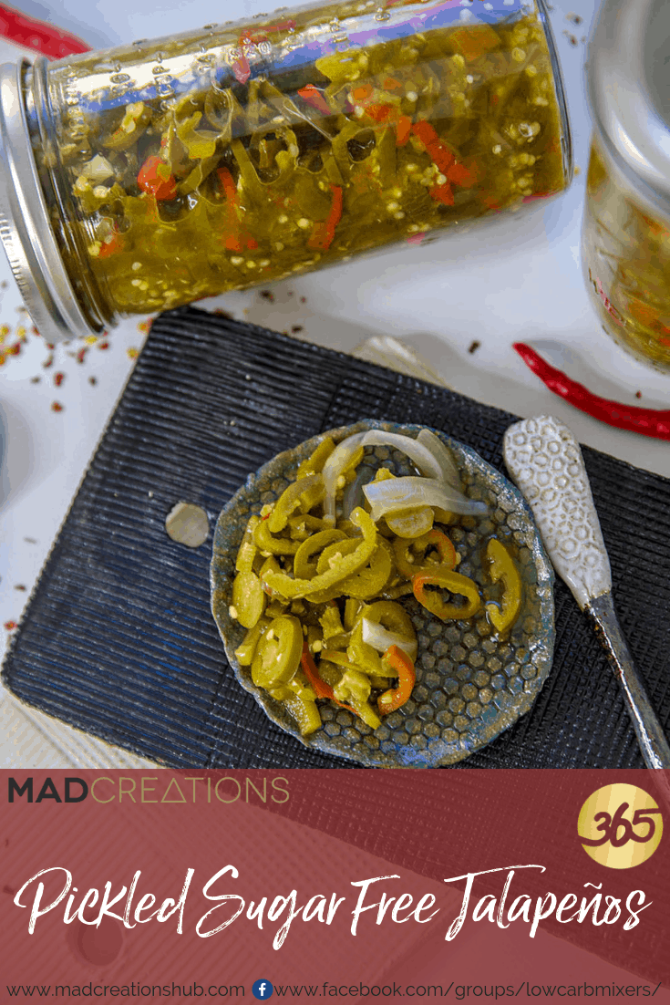 Keto Pickled Jalapenos on plate