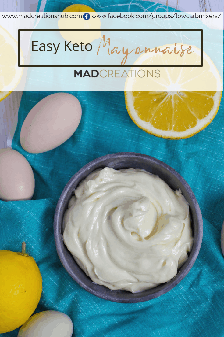 Easy Keto Mayonnaise ingredients