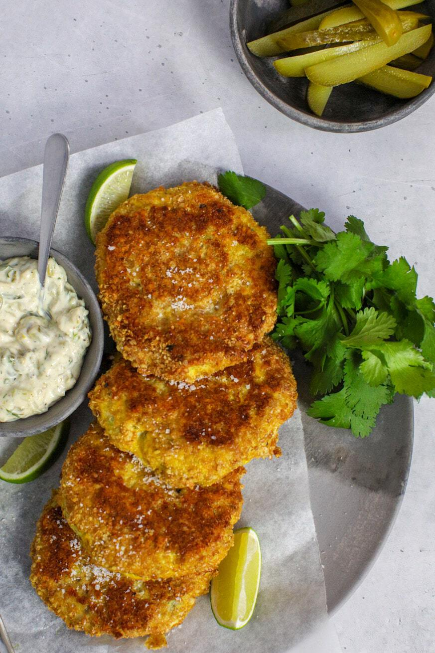 Fish Cakes on a plate