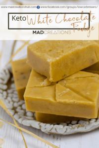 Mad Creations White Keto Chocolate Fudge