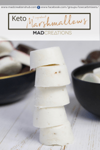 Keto Paleo Marshmallows piled in a stack