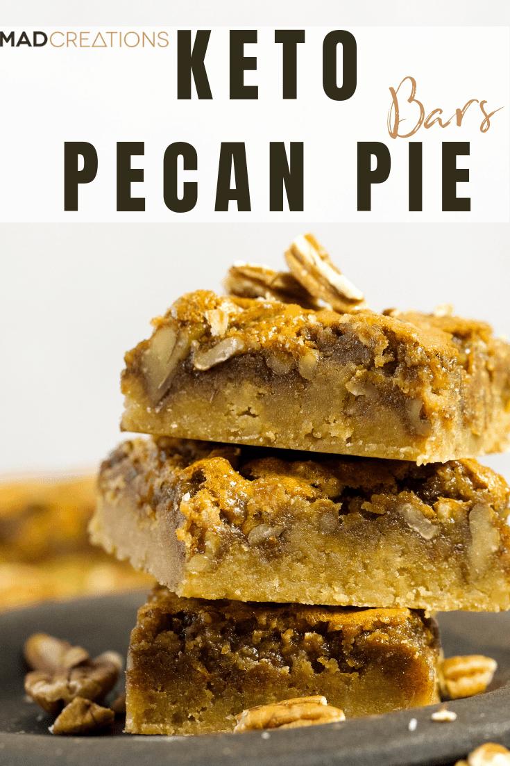 Keto Pecan Pie Bars Banner
