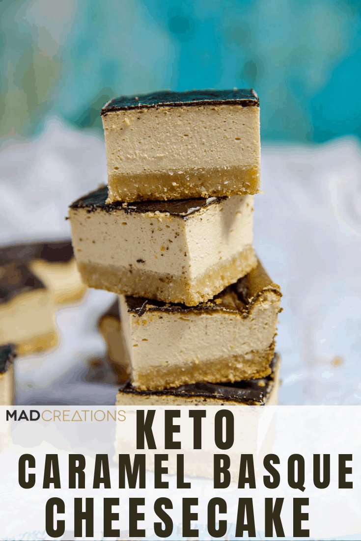Keto Basque Cheesecake stacked up