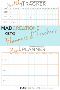 Keto Planners and Trackers Pinterest Banner